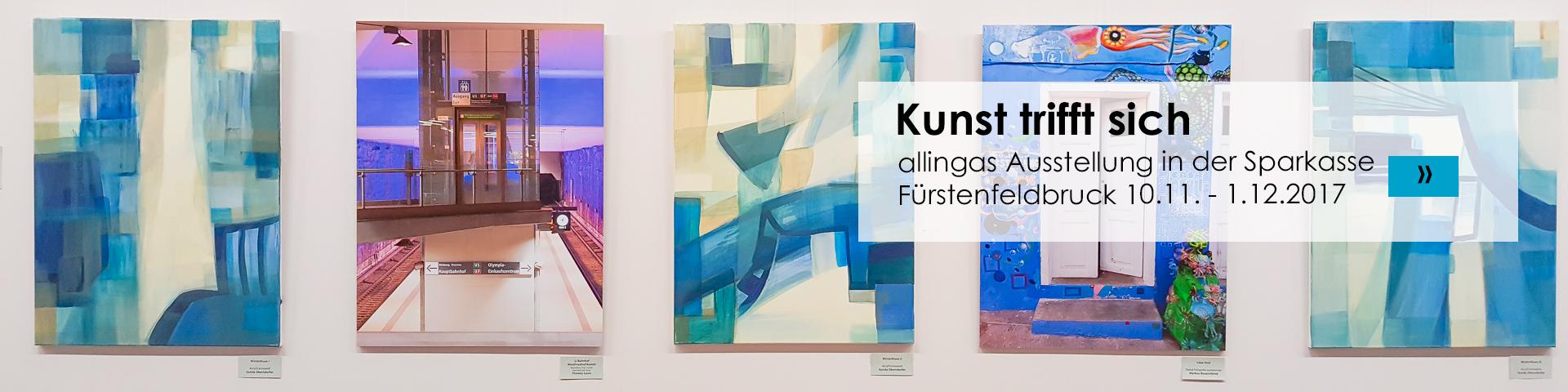 Kunst trifft sich - Ausstellung in der Sparkasse FFB